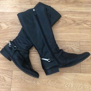 Diana Ferrari leather knee high boots